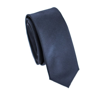 Carlo Visconti Microfiber Black Slim Tie