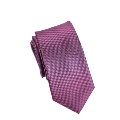 Carlo Visconti Microfiber Burgundy Self Patterned Tie