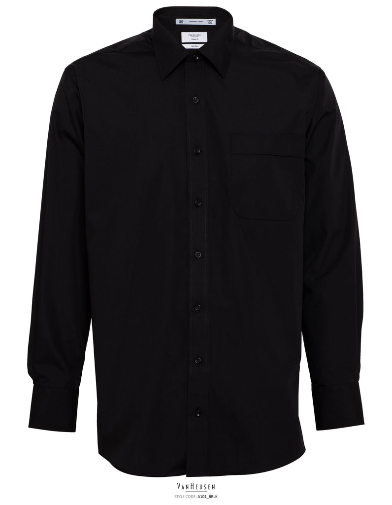 Classic Fit Van Heusen Black Shirt For Men