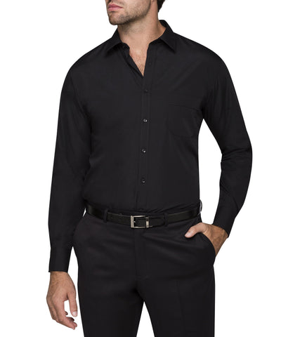 Image of Classic Fit Van Heusen Black Shirt For Men