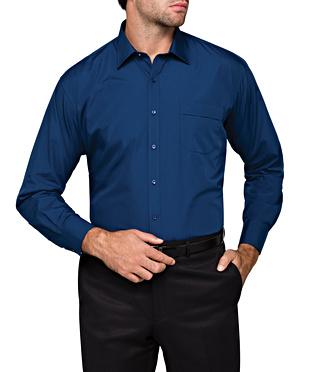 Image of Classic Fit Van Heusen Navy Shirt For Men