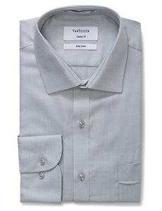 Classic Fit Van Heusen Silver Shirt For Men