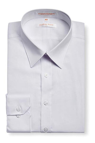 Geoffrey Beene Slim Fine Twill Modern Peak Collar White NON Iron Shirt With Single Cuffs