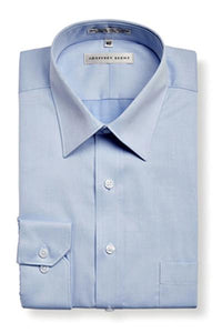 Geoffrey Beene Tailored Fine Twill Modern Peak Collar Sky NON Iron Shirt With Single Cuffs