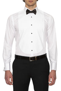 New England Double Cuff White Slim Fit Shirt Sale For Men