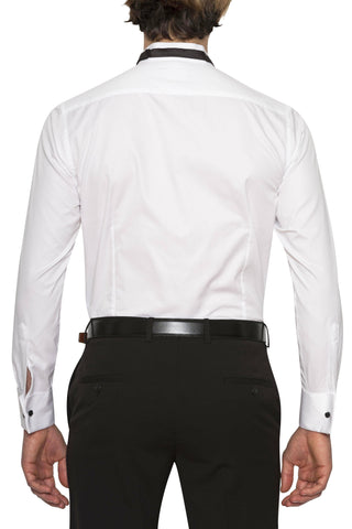 New England Slim Fit Double Cuff White Shirt Sale For Men