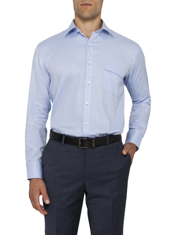 Image of Van Heusen Classic Fit Blue Shirt For Men