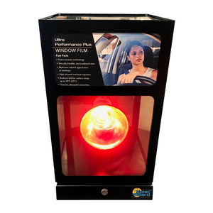 Solar Gard Heat Lamp Display With Glass
