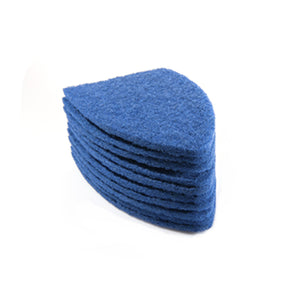 TRI EDGE SCRUB-IT BLUE PADS, 10-PACK (MORE AGGRESSIVE PAD)