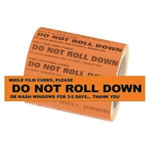 ST0480   Do Not Roll Down STickers