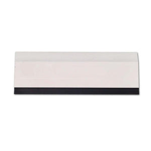 Flat Hard Card w/Black Rubber Edge - 6in