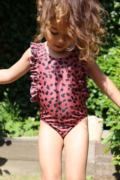 DAILY BRAT DOLLY SWIMSUIT MARSALA WITH UPF50+