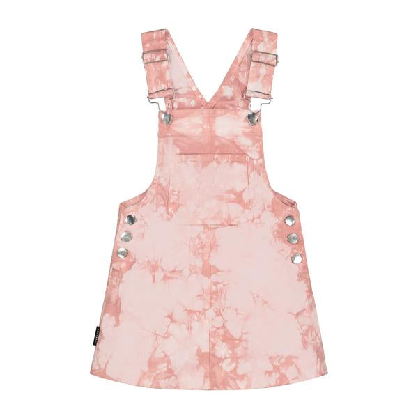 DAILY BRAT TIE DYE DRESS DUSTY PINK