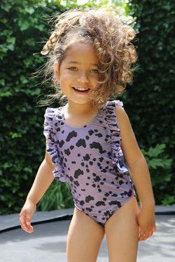DAILY BRAT DOLLY SWIMSUIT DUSTY PURPLE WITH UPF50+