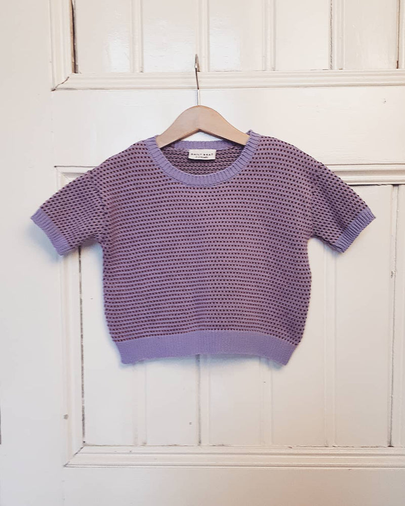 DAILY BRAT CAMILLA KNITTED T-SHIRT LILAC