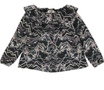 MARMAR BLACK TOTEM ZIGZAG TRACY BLOUSE
