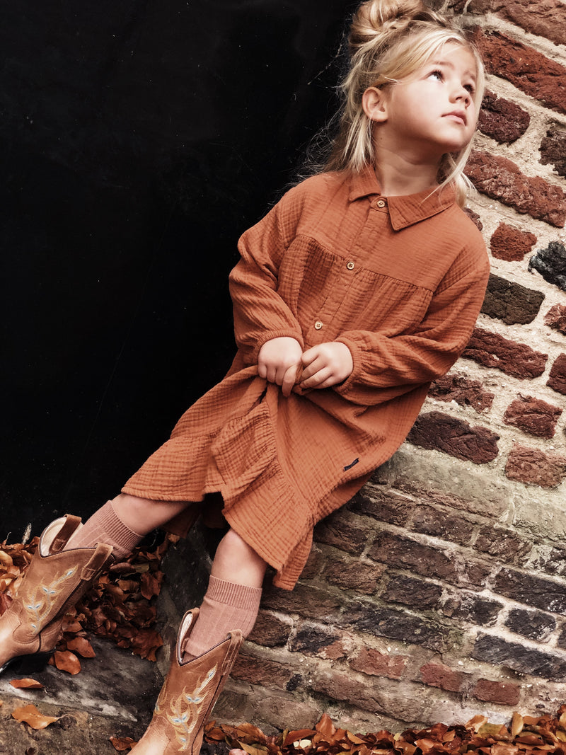 LILYAN DRESS HAZEL BROWN - ONLINE EXCLUSIVE