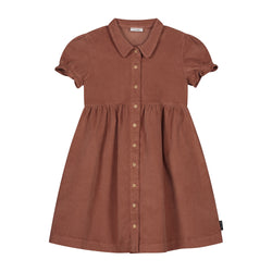 ELLA CORDUROY DRESS MAHOGANY