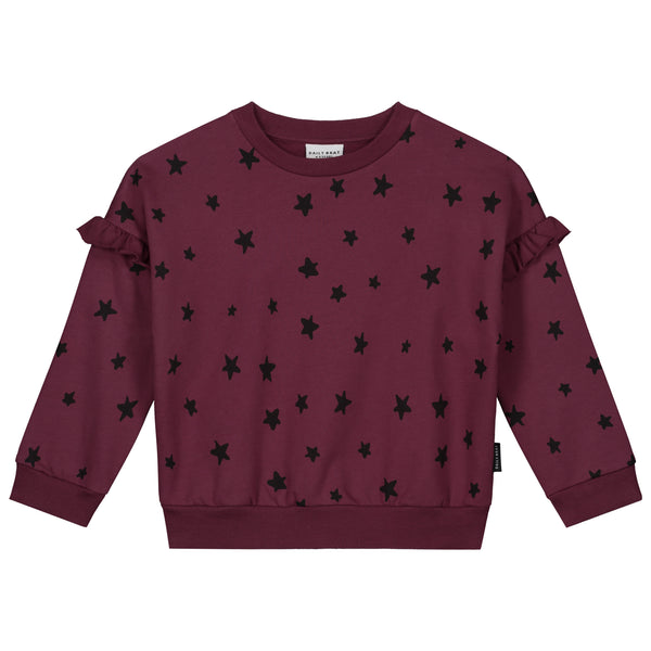 MEGHAN STAR SWEATER CARBEN RED