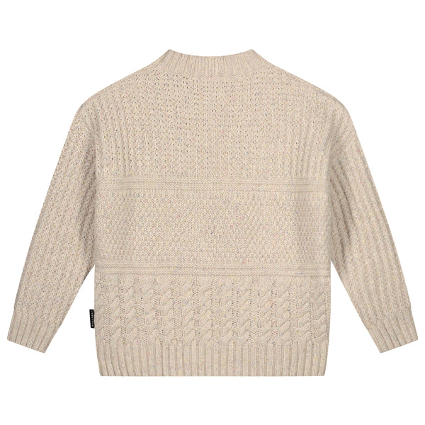 MIKA CABLE KNITTED SWEATER IVORY