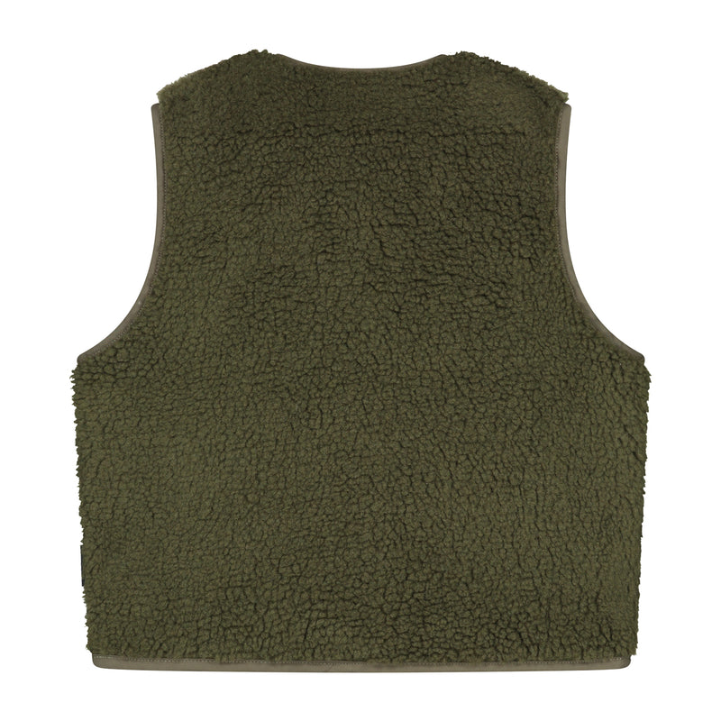 TEDDY VEST FOREST GREEN