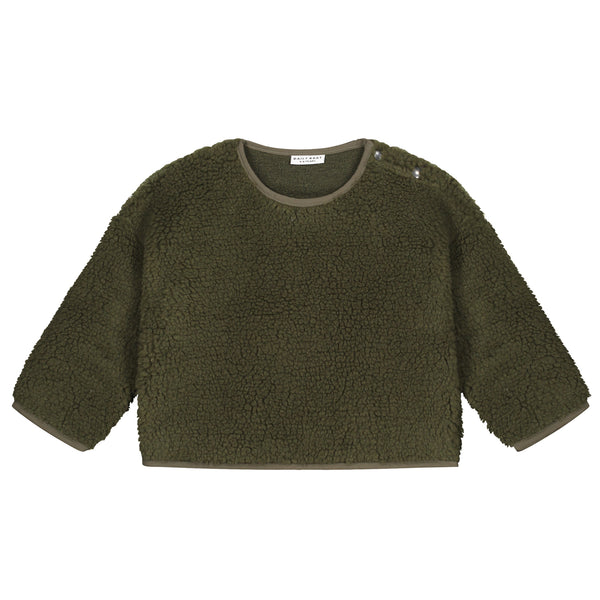 TEDDY OVERSIZED SWEATER FOREST GREEN