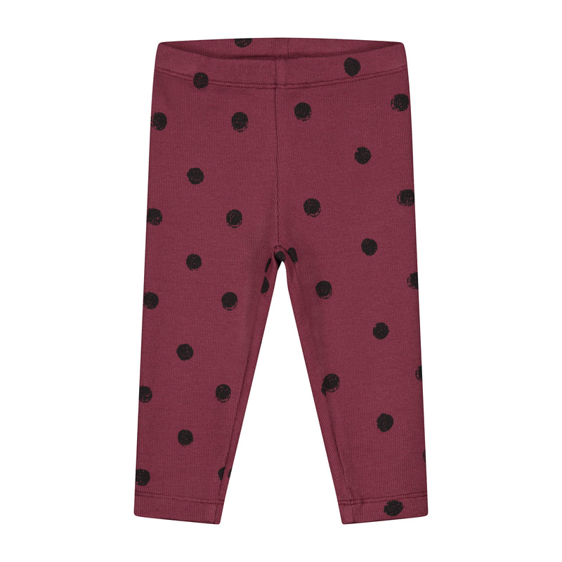MINI PAINTED POLKA PANTS CARBEN RED