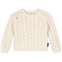 MINI CABLE KNITTED SWEATER IVORY