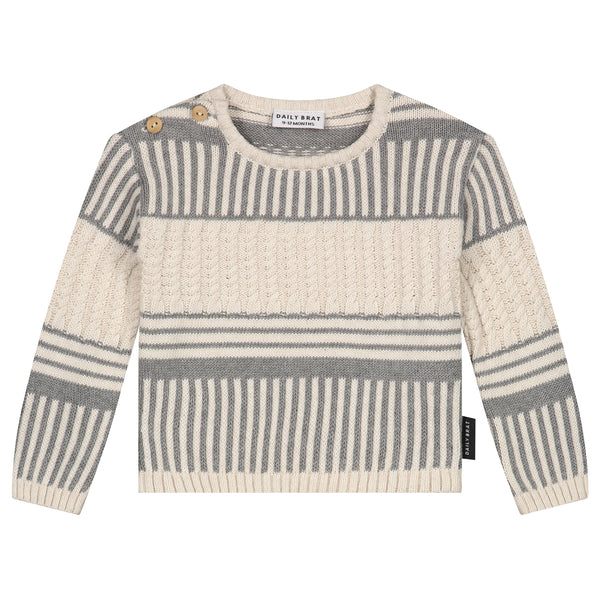 MINI KNITTED SWEATER IVORY