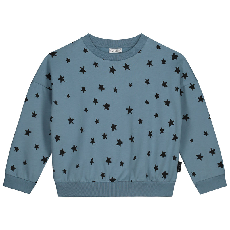 STAR OVERSIZED SWEATER SOFT BLUE