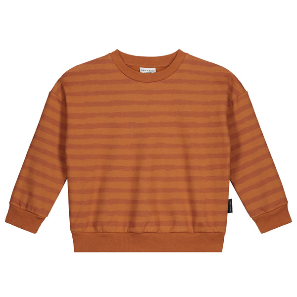 OTIS OVERSIZED STRIPED SWEATER COLOMBIA BROWN