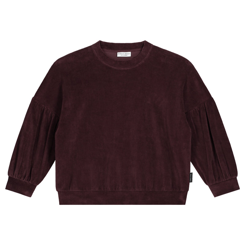 MARANT VELOUR SWEATER DEEP MAHOGANY