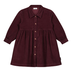 BROOKE CORDUROY DRESS DEEP MAHOGANY