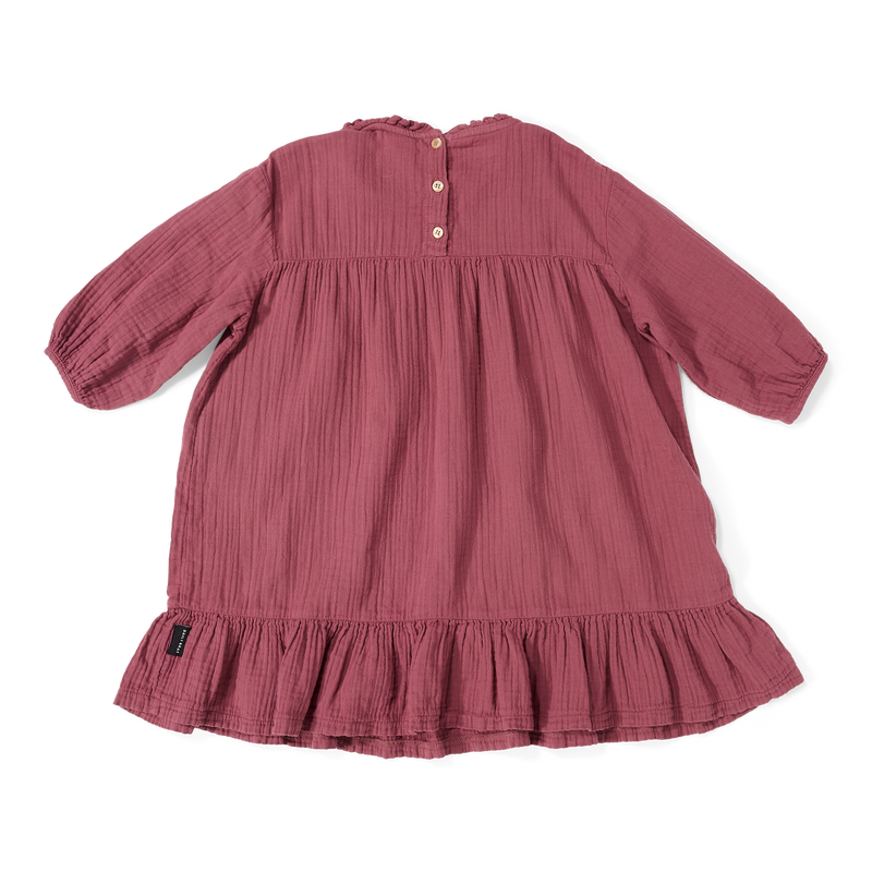 DAILY BRAT LOÏS OVERSIZED RUFFLE DRESS CAMILLE ROSE