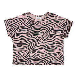 DAILY BRAT OVERSIZED ZEBRA T-SHIRT DUSTY POWDER