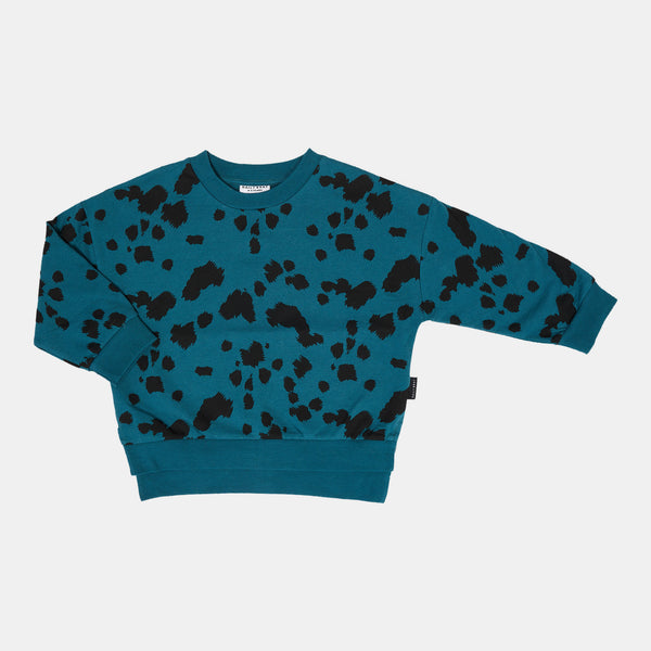 DAILY BRAT DALMATIAN SWEATER PETROL GREEN