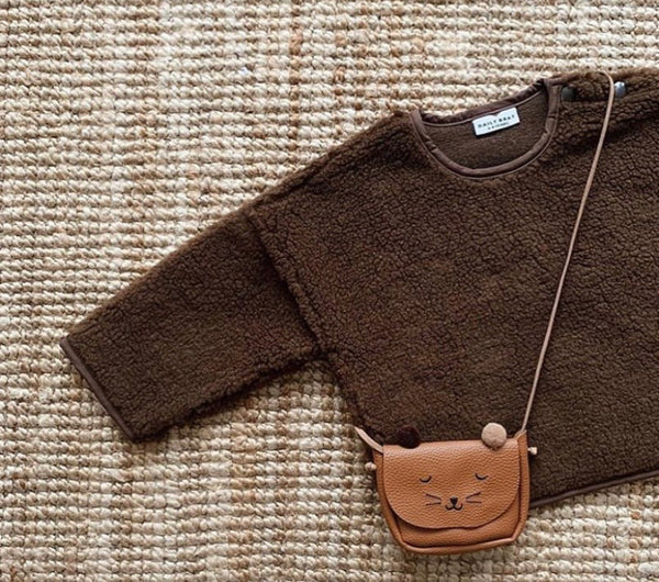 DAILY BRAT OVERSIZED TEDDY SWEATER WALNUT