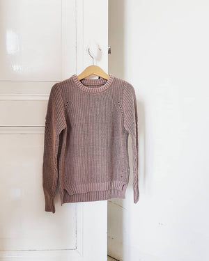DAILY BRAT DUSTY PINK KNITTED SWEATER