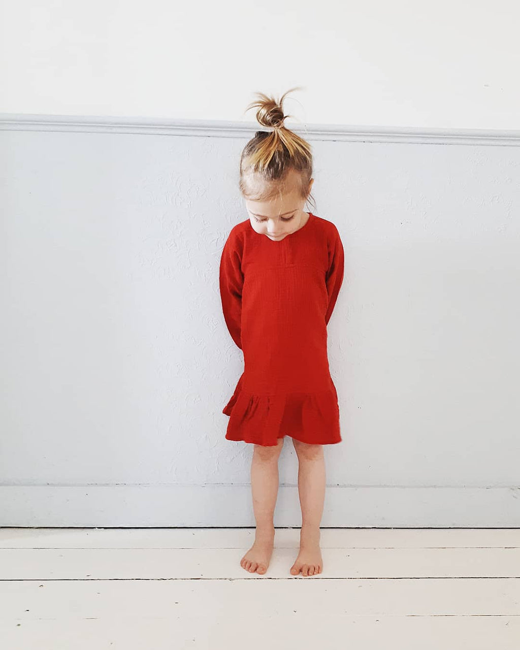 DAILY BRAT LINEN RED DRESS