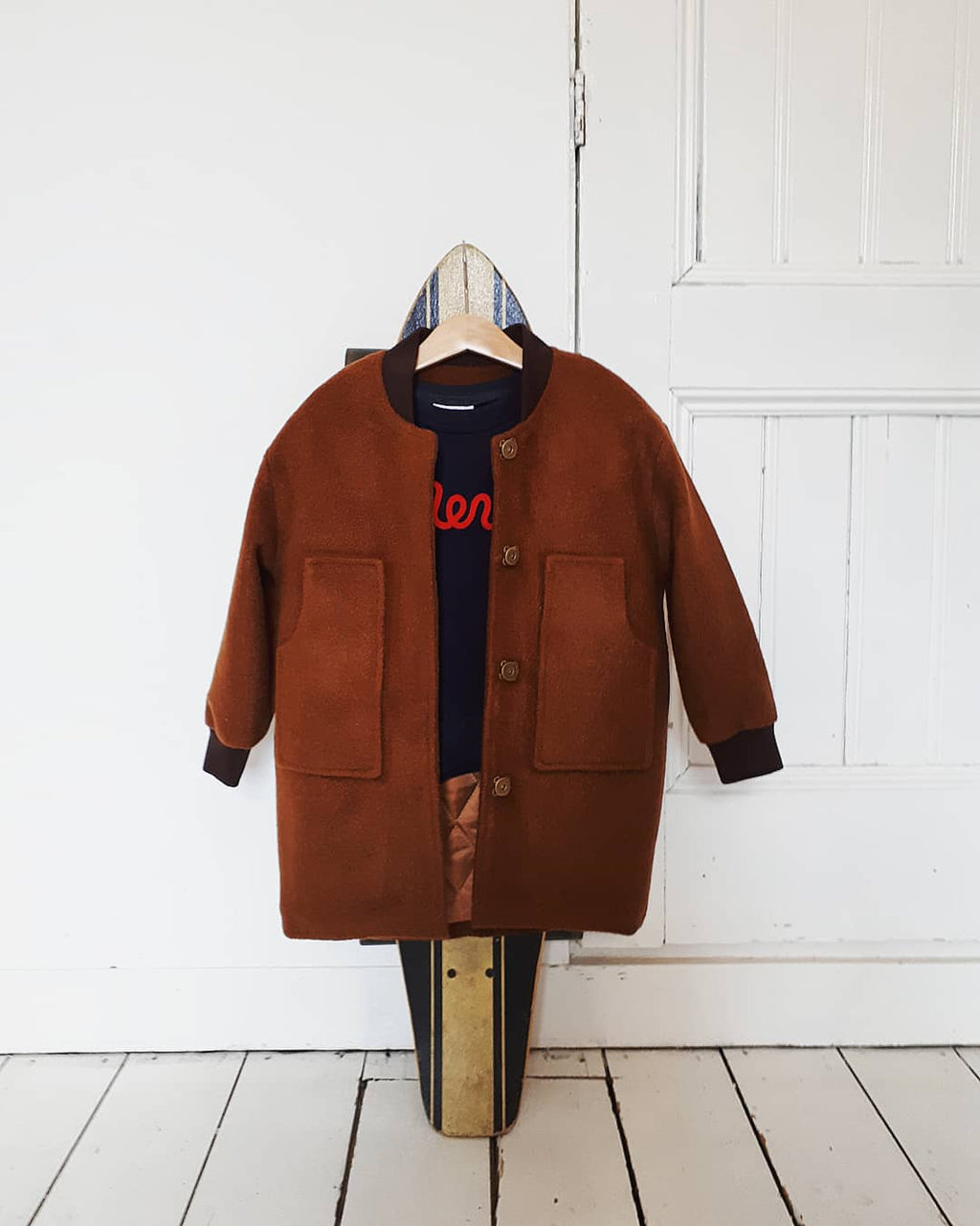 DAILY BRAT BOMBER JACKET BROWN