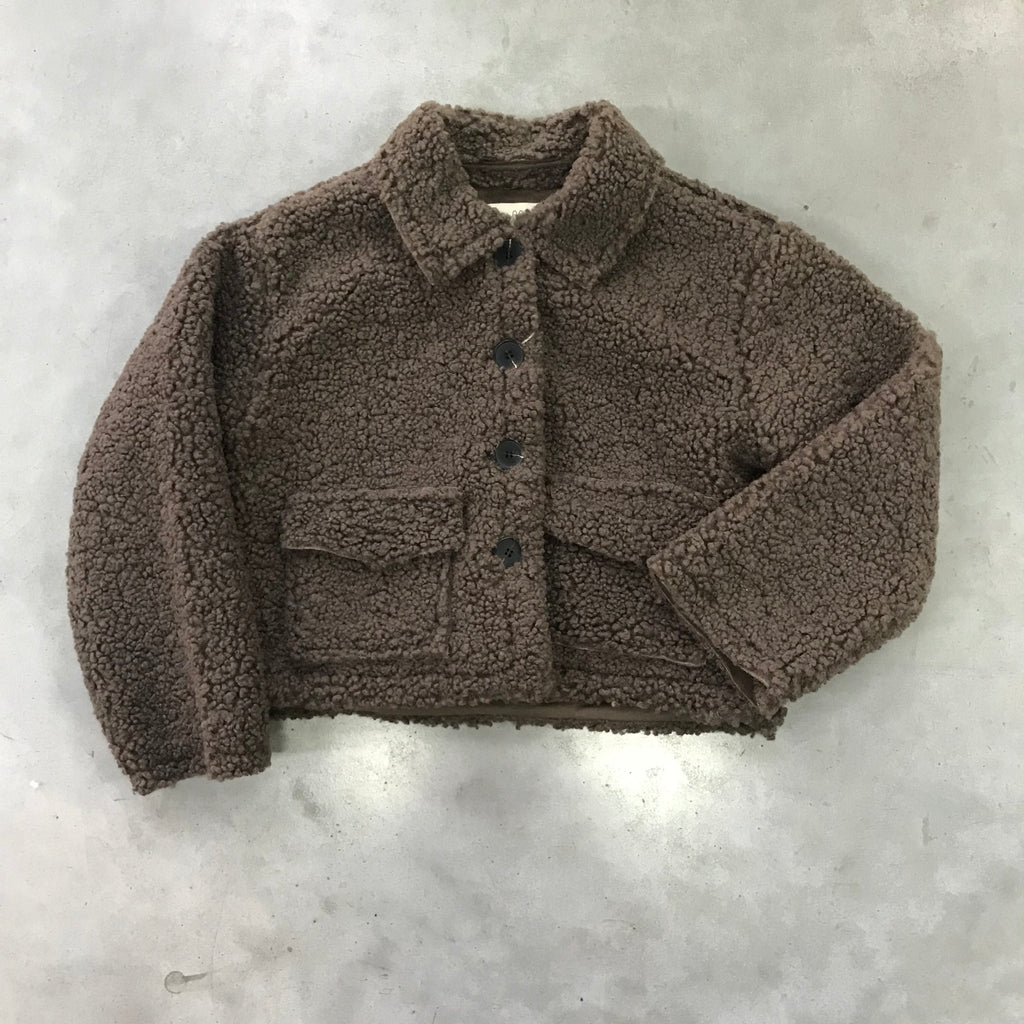 DAILY BRAT TEDDY JACKET BROWN