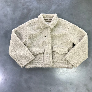 DAILY BRAT TEDDY JACKET IVORY