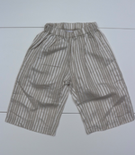 DAILY BRAT COTTON LINEN STRIPED PANTS WHITE