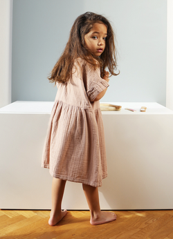 DAILY BRAT DAISY DRESS DUSTY PINK