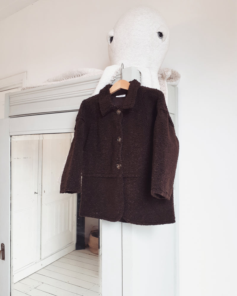 DAILY BRAT JACKY TEDDY COAT CONE BROWN