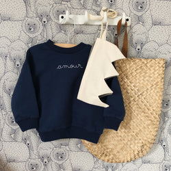 DAILY BRAT MINI AMOUR SWEATER DARK NAVY