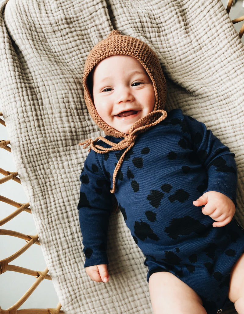 DAILY BRAT MINI DALMATIAN BODYSUIT DARK NAVY