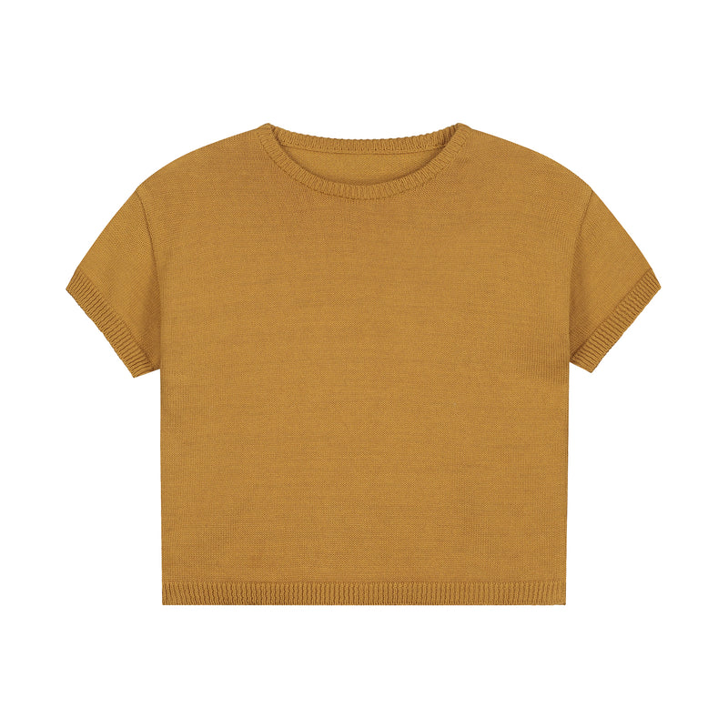 SUMMER KNITTED T-SHIRT SANDSTONE