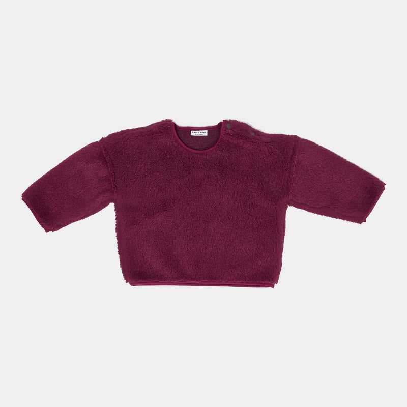 DAILY BRAT OVERSIZED TEDDY SWEATER MULBERRY