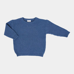 DAILY BRAT AUSTIN OVERSIZED KNITTED SWEATER SOFT BLUE
